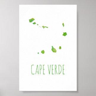 Poster Carte du Cap Vert