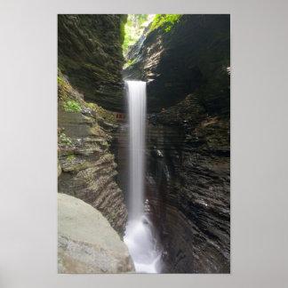 Poster Cascade de caverne, parc d'état de gorge de
