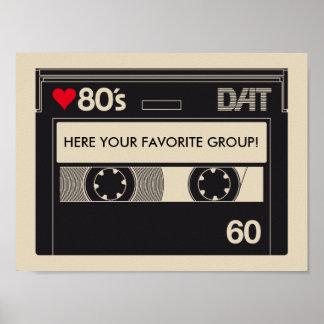 Poster Cassette I Love 1980s Music