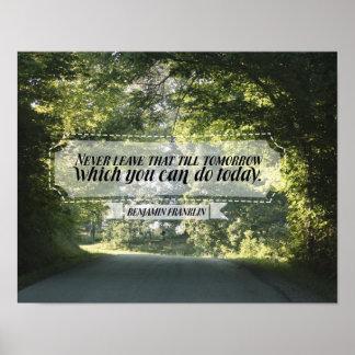 Poster Ce que vous pouvez faire aujourd'hui
