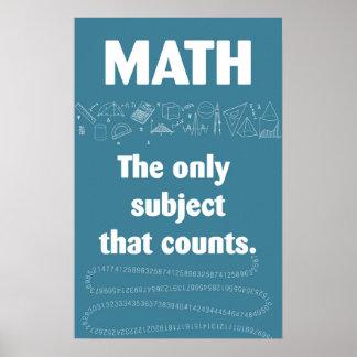 Poster Ce soumis de maths seulement comptes