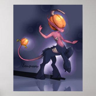 Poster Centaure de citrouille