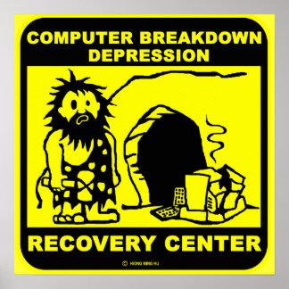 Poster Centre de récupération de dépression de panne