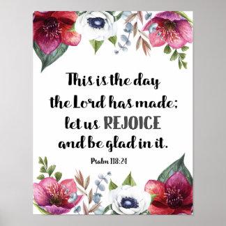 Poster C'est le jour où le seigneur avait fait des fleurs