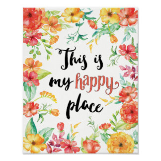 Poster C'est mon endroit heureux