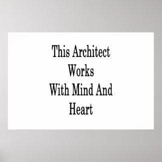 Poster Cet architecte travaille avec l'esprit et le coeur