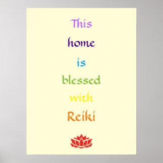 Poster Cette maison est bénie avec Reiki