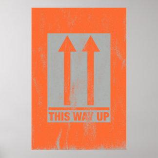Poster Cette manière vers le haut de signe