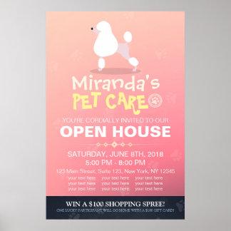 Poster Chambre ouverte adorable de magasin de bêtes de