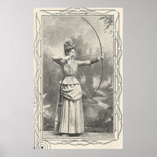Poster Champion de tir à l'arc de 1904 femelles