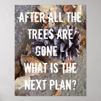 Poster Changement climatique de la terre de conservation
