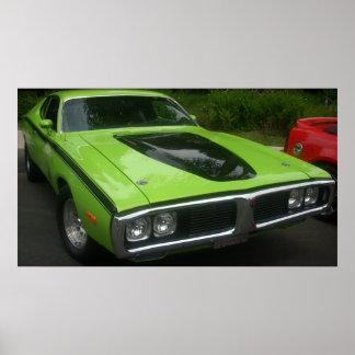 Poster Chargeur de 1973 Dodge