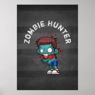 Poster Chasseur de zombi avec le cool déplaisant