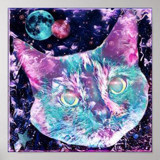 Poster Chat de galaxie