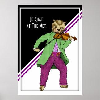 Poster Chat de violon de concert