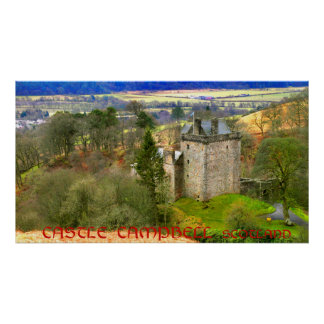 Poster Château Campbell, Ecosse