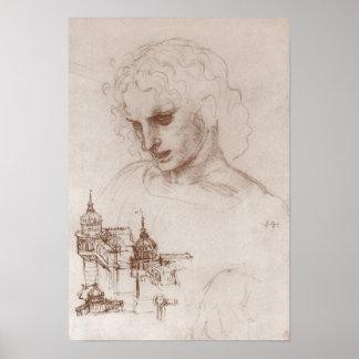 Poster Château de Jacobus Sforza d'apôtre, Leonardo da