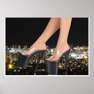 Poster Chaussures de ville - art stylet