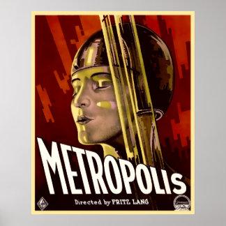 POSTER CHEF D'OEUVRE DE FILM SILENCIEUX - MÉTROPOLE 1927