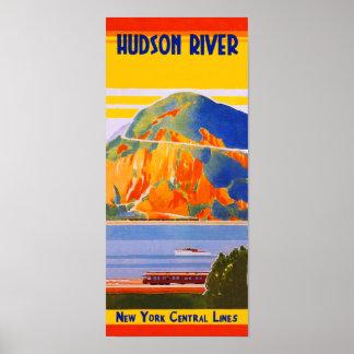 Poster Chemin de fer central de New York, le fleuve