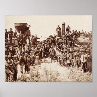 Poster Chemin de fer transcontinental - cérémonie d'or de