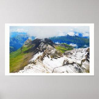 Poster Chemins dans les alpes suisses