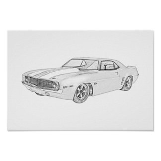 Poster Chevy 1969 Camaro