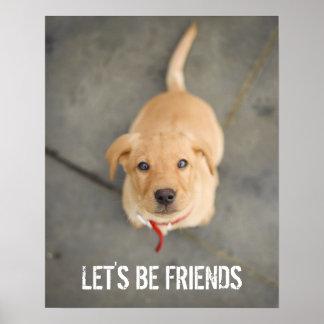 Poster Chiot rouge de Labrador