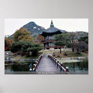 Poster Chute, palais de Kyongbok