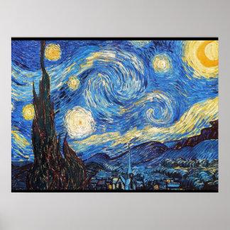Poster Ciel d'abrégé sur nuit étoilée de nuit étoilée