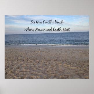 Poster Ciel de plage