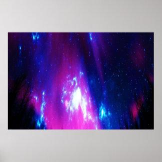 Poster Ciel d'hiver d'améthyste