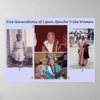 Poster Cinq générations des femmes de tribu de Lipan
