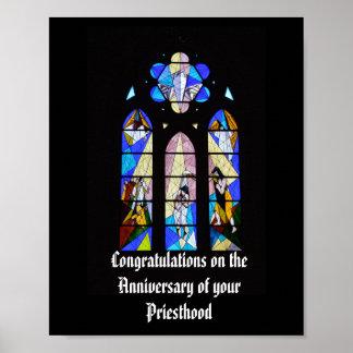 Poster Cinquantième d'anniversaire 15ème de prêtre 20ème