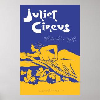 Poster Cirque de Juliet - la nuit du Succubus
