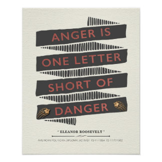 Poster Citation de colère par Eleanor Roosevelt