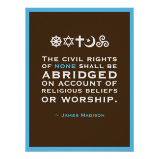 Poster Citation de James Madison