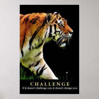 Poster Citation de motivation de défi de tigre