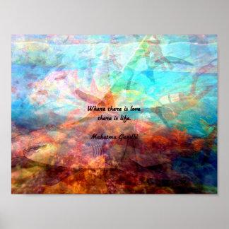 Poster Citation inspirée de Gandhi au sujet de l'amour,