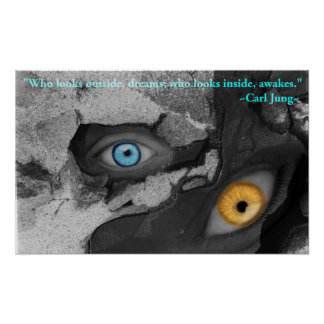 Poster Citation multimédia de Jung d'art de deux yeux