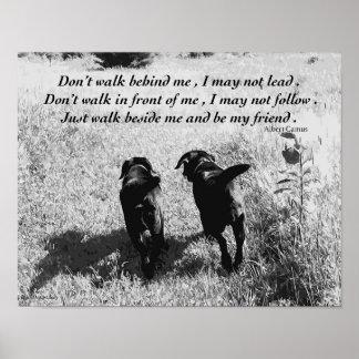 Poster Citation noire d'amis de Labrador