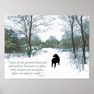 Poster Citation noire de Labrador - trésors