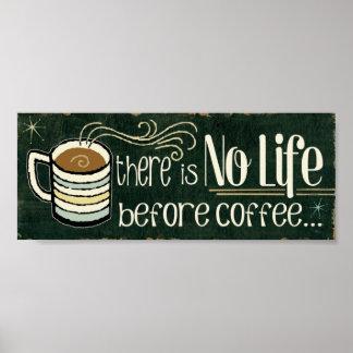 Poster Citations drôles de café