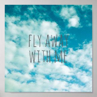 Poster citez la photo de nature de ciel bleu d'affiche