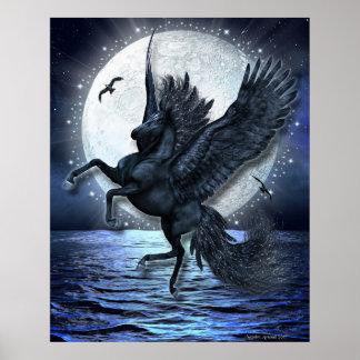 Poster Clair de lune étoilé
