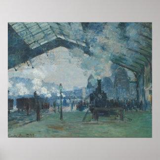 Poster Claude Monet - arrivée du train de la Normandie