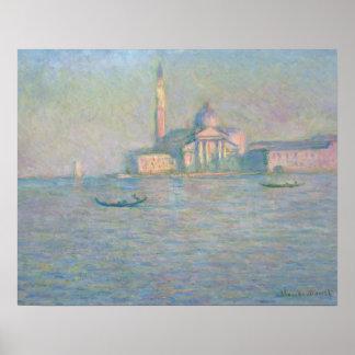 Poster Claude Monet - l'église de San Giorgio Maggiore,