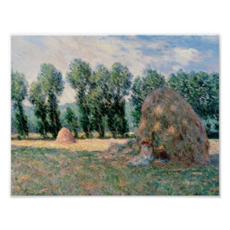Poster Claude Monet - meules de foin