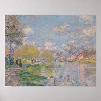 Poster Claude Monet - ressort par la Seine