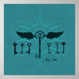 Poster Clés volantes du charme | de Harry Potter